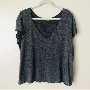 Textured V neck T-shirt by Project Social T